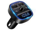 Bluetooth FM Transmitter Stereo Radio Car Kit w/ Dual USB Interface for Android & iPhone