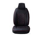 Universal Leatherette Diamond Designed Seat Covers 2pc Double Cap W/ Head Rest Covers - Color Options