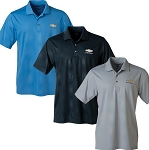 Men's Jersey Polo w/ Embossed Gold Bowtie & Chevrolet Script - Size & Color Options