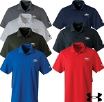Men's Under Armour Performance Polo w/ Gold Bowtie & Chevrolet Script - Size & Color Options