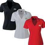 Ladies Ottoman Polo w/ Gold Bowtie & Chevrolet Script - Size & Color Options