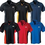 Men's Extreme Colorblock Polo w/ Gold Bowtie & Chevrolet Script - Size & Color Options
