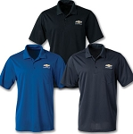 Men's Dri-Zone UV Micro Mesh Pocket Polo w/ Gold Bowtie & Chevrolet Script - Size & Color Options