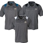 Men's Mystic Heather Polo w/ Gold Bowtie & Chevrolet Script - Size & Color Options