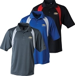 Men's Reebok Playdry Athletic Polo w/ Gold Bowtie & Chevrolet Script - Size & Color Options