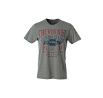 Chevrolet Prestige Men's Heather Gray Ring Spun T-Shirt - Size Options