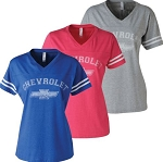 Ladies Chevrolet Football T-Shirt - Size & Color Options