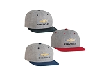Flat Bill Cap w/ Chevrolet Gold Bowtie