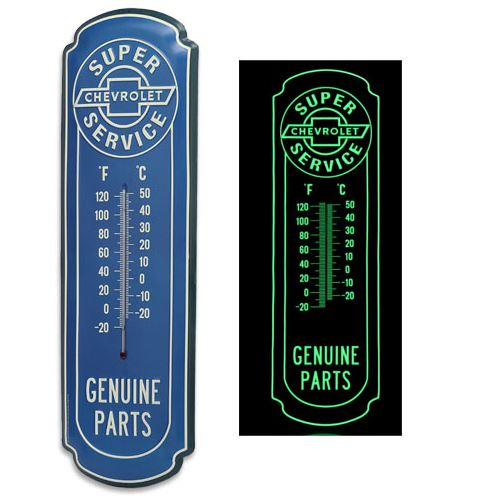 Chevrolet Super Service Glow-In-The-Dark Thermometer