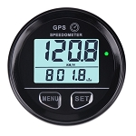 Digital GPS Speedometer w/ High Speed Recall w/ Programmable High/Low Speed Alarms