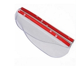 Clear Side View Mirror Rain & Snow Shields - Pair