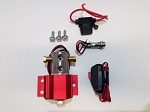 4-Port Brake Lock System - Sand Blast Red Anodized Finish
