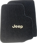 2004-2006 Jeep Wrangler TJ Unlimited Cutpile Front Row Floor Mats with Jeep Script - 2pc