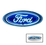 Ford Oval Neon Sign with Metal Border