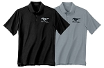 2005-2015+ Ford Mustang Short Sleeve Polo w/ Running Pony Logo - Size & Color Options Available