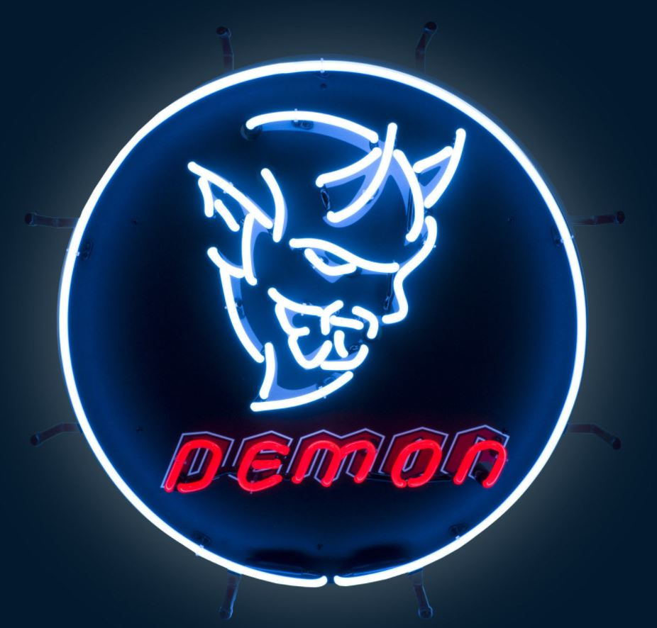 2018 Dodge Challenger Demon Srt Neon Sign 24in Diameter
