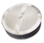 C2 C3 Corvette 1963-1982 Round Diamond Top 14in Air Cleaner - Multiple Finishes Available