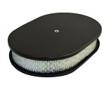 C2 C3 Corvette 1963-1982 Oval Smooth Top 12in Air Cleaner - Multiple Finishes Available