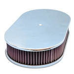 C2 C3 Corvette 1963-1982 Billet Aluminum Oval Smooth Top 17in Air Cleaner - Multiple Finishes Available