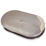 C2 C3 Corvette 1963-1982 Oval Diamond Top 15in Air Cleaner - Multiple Finishes Available