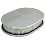 C2 C3 Corvette 1963-1982 Oval Smooth Top 15in Air Cleaner - Multiple Finishes Available