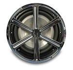 Billet Aluminum 10in Wheel Style Sub Woofer Grill - Multiple Finishes Available