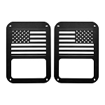 2007-2017+ Jeep Wrangler JK / Unlimited American Flag Taillight Cover Guard Protectors