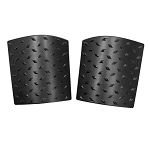 2007-2017+ Jeep Wrangler JK Rubicon / Sahara / Unlimited Black Diamond Plate Style Cowl Body Armor - Sold as a Pair
