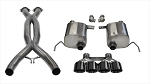 C7 Corvette Stingray/Grand Sport 2014-2019 Corsa Performance Sport Valve-Back + X-Pipe Exhaust System w/ Quad 4.5in Black PVD Tips