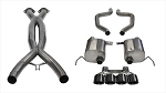 C7 Corvette Z06/Grand Sport 2015-2019 Corsa Performance Xtreme Cat-Back Exhaust System w/ Quad 4.5in Black PVD Tips