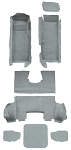 C5 Corvette 1997-2004 Replacement Truvette Mass Carpet Set - Coupe
