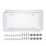 Clear Bubble License Plate Shield w/ Hardware