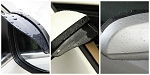 Side View Mirror Rain & Snow Shields - Pair