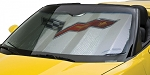 C6 Corvette 2005-2013 Crossed Flags Logo Sunshade