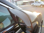 Carbon Fiber Style Side Mirror Rain Guard Visors