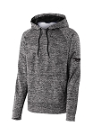 Ford Mustang Sport-Tek Heather Fleece Hooded Pullover - Gray