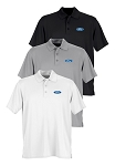 Ford Tech Vansport Omega Solid Mesh Polo - White, Black, or Gray