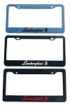 Lamborghini Brand Script License Plate Frame - Color/Finish Selections