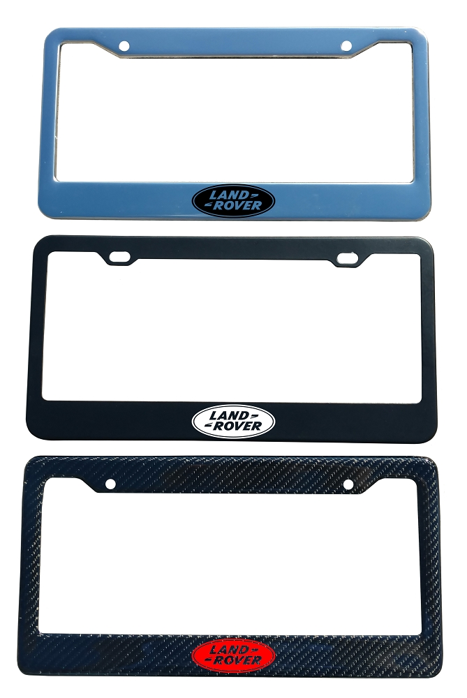 Land Rover Brand Script License Plate Frame - Color/Finish Selections
