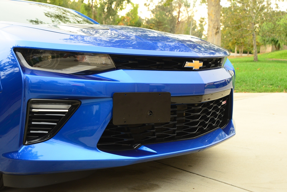 Fit Chevy Camaro Blue Stainless Steel License Plate Frame