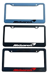McLaren Brand Script License Plate Frame - Color/Finish Selections