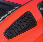 2005+ Ford Mustang ABS Side Window Louvers - Closed - Year & Set Option