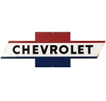 Chevrolet Bowtie Die Cut Embossed Tin Sign