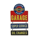 Chevrolet Garage Linked Hanging Tin Sign