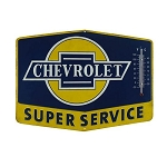 Chevrolet Super Service Thermometer Sign