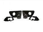 2013-2014 Ford Mustang GT / V6 Roush Lower Fog Light Kit -Black Stipple Finish