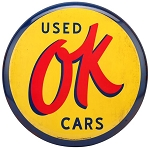 OK Used Cars Tin Button