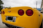 C6 Corvette 2005-2013 Polished Tag Back/Frame - Billet Style