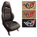 C5 Corvette 1997-2004 OE Grade Leather Seat Covers - Embroidered Logos