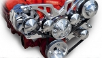 C3 Corvette 1968-1982 Style Track Billet Alternator & Power Steering Serpentine System - Big Block - All Inclusive Kit